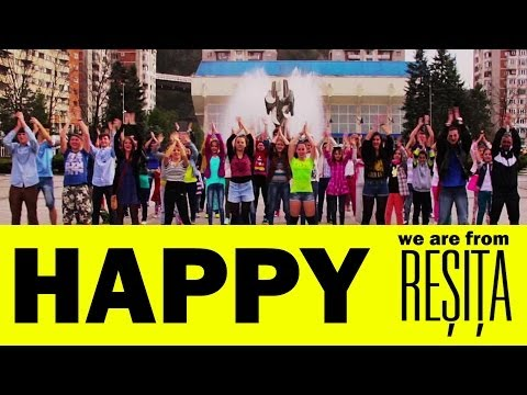 Pharrell Williams Happy - We are HAPPY in RESITA  [ROMANIA]