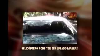Ventania provocada por helic�ptero causa estrago em t�xi na capital