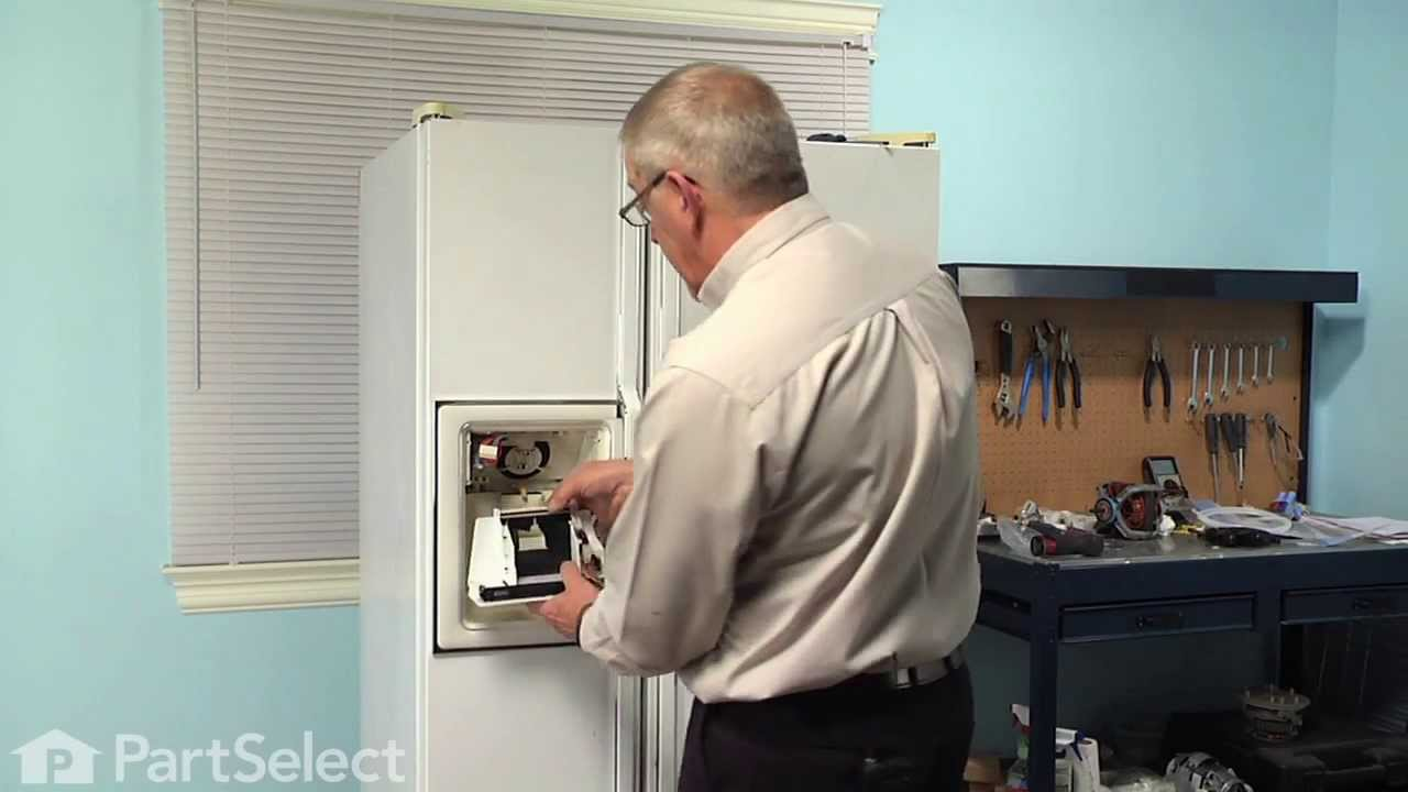 Refrigerator Repair Replacing The Dispenser Control