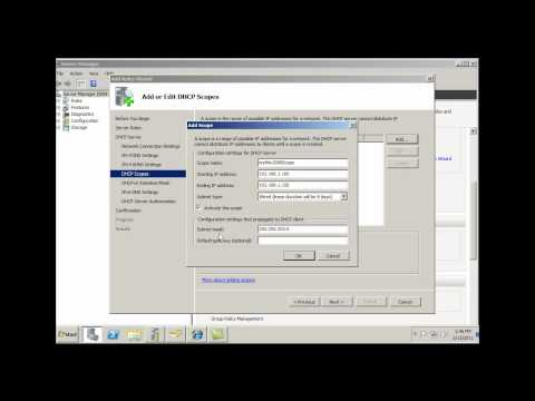 Install and Configure DHCP Server in Server2008 - Part 1