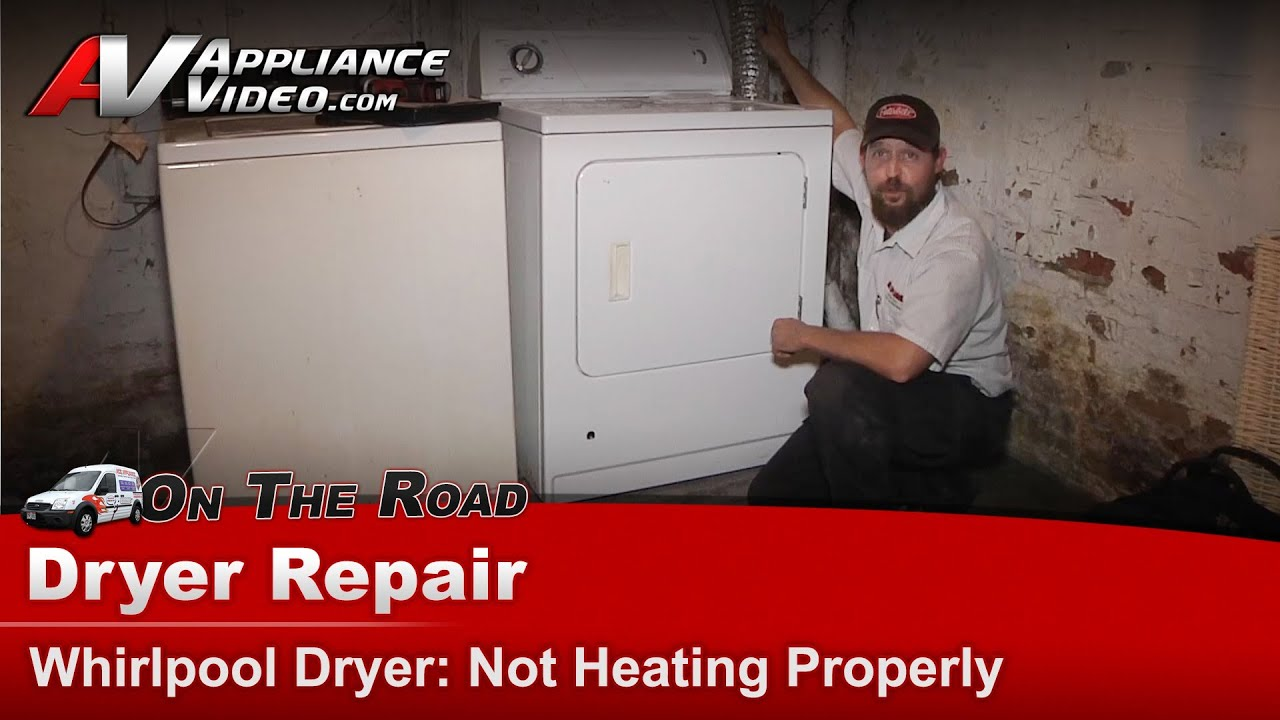 Whirlpool Gas Dryer Repair Does Not Heat Properly