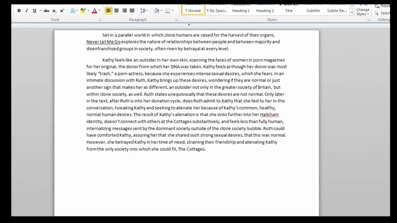 towson university college essay