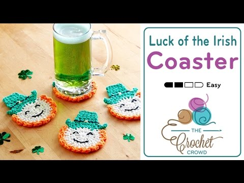 How to Crochet Coasters: Luck of the Irish Leprechaun