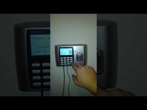 Rilevazione presenze A300ID registrazione impronta digitale e timbratura di verifica