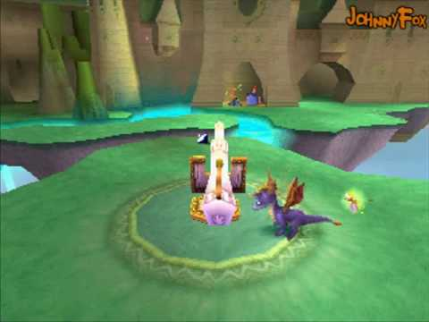 Spyro the Dragon -25- Dream Weavers Home, Basically the last home level, because the final one is a tiny circle that I can't actually completely complete right away. So this is the last big home leve...