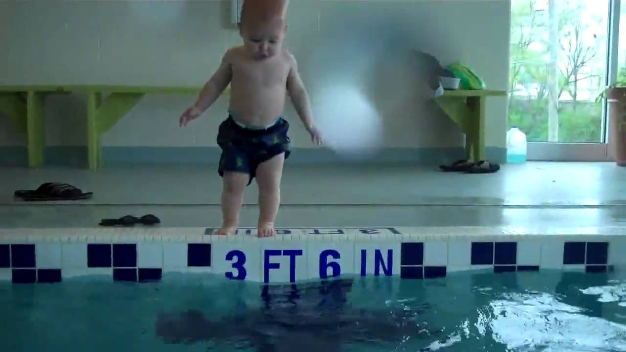 Swimming 17 Month Old Baby Youtube