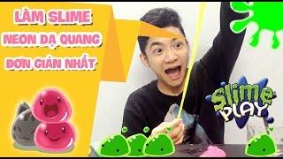 LÀM SLIME NEON DẠ QUANG Hương Hoa Quả Đơn Giản Nhất - How To Make Slime DIY
