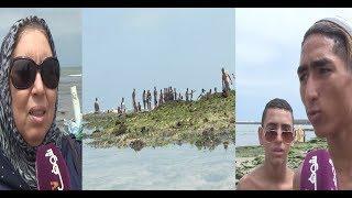خطير و بالفيديو.. ''قادوس'' وسط البحر فالمحمدية و الناس كايعومو | روبورتاج