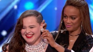Judges Help Yoli To Deliver A Stunning Cover Of Ed Sheeran   Week 1   AGT 2017