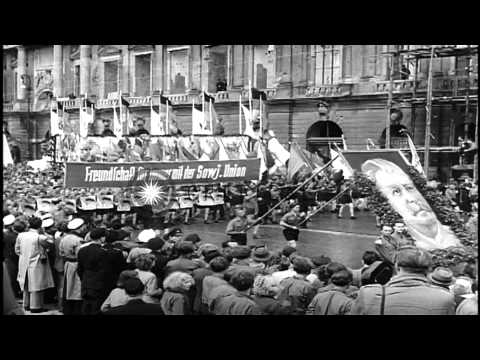 A rally by Communist youth in Berlin, East Germany. HD Stock Footage