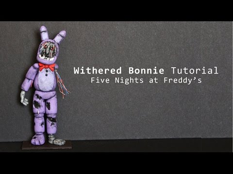 Five Nights at Freddy's 2 Withered Bonnie Polymer Clay Tutorial