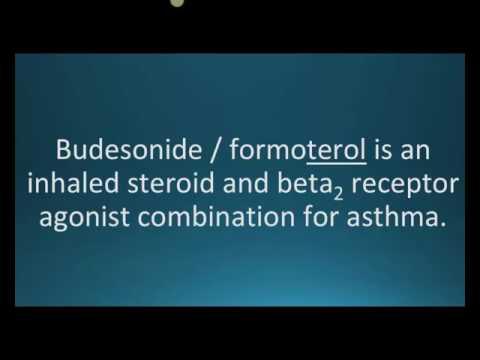 How to pronounce budesonide formoterol (Symbicort) (Memorizing Pharmacology Flashcard)