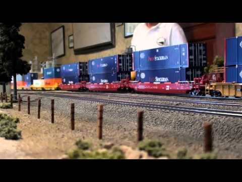 Encuentro Ferromex Intermodal y tren KCSM patios Maqueta Queretaro