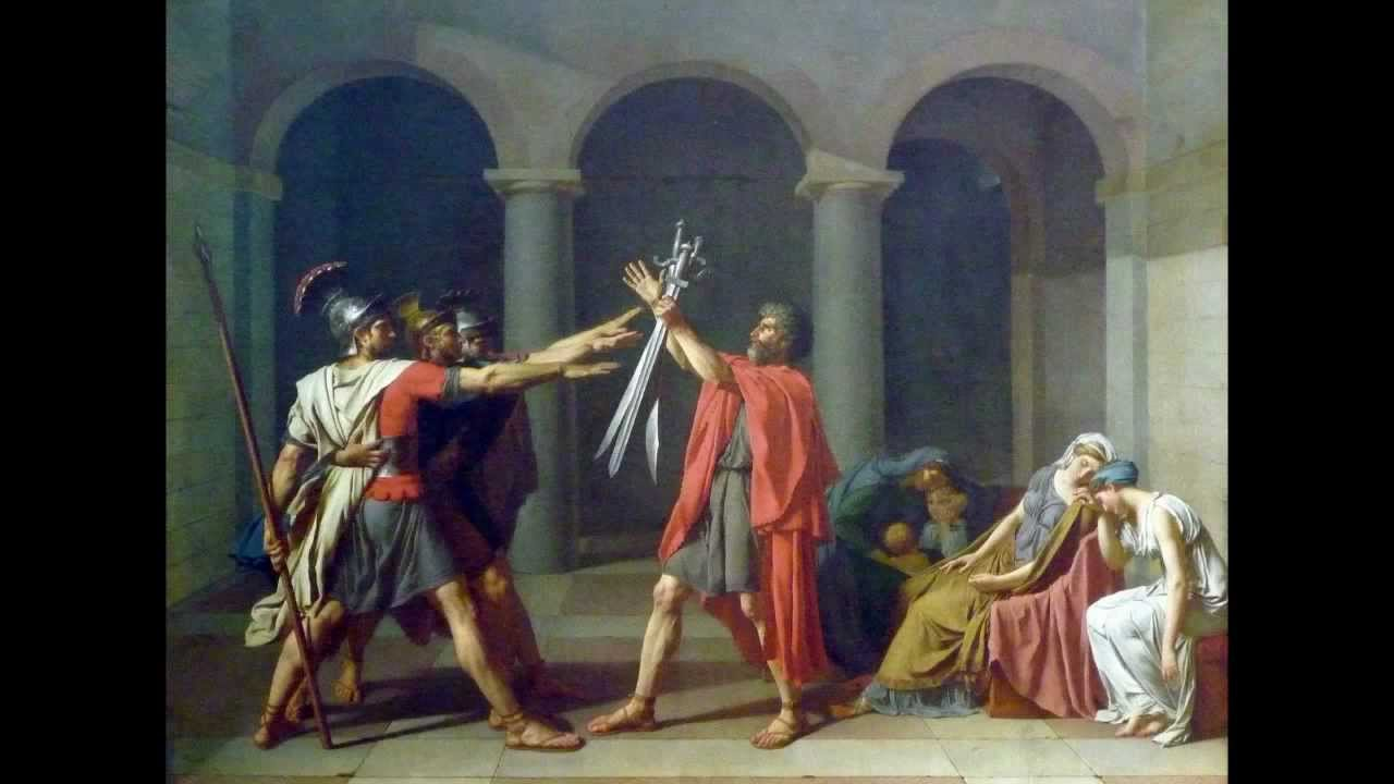 art history oath of the horatii essay Jacques-louis davids painting, the oath of the the oath of the horatii - essay it is among of the artworks that expressed the beginning of contemporary art.