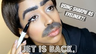 SHARPIE FOR EYELINER?! INTERVIEW WITH JET.