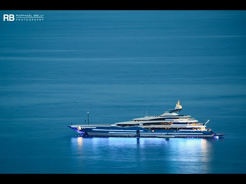 superyacht Madame Gu entering IYCA Antibes
