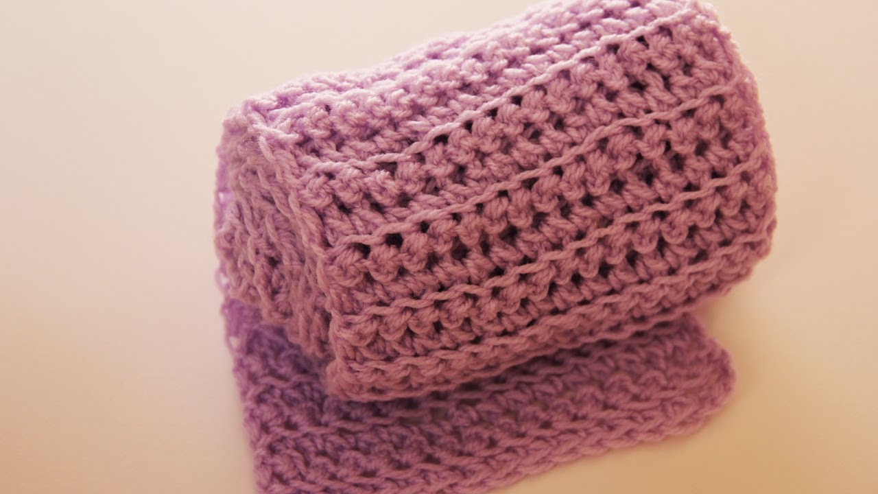 Youtube Crocheting Scarves : How to crochet a scarf (simple way) - video tutorial with detailed ...
