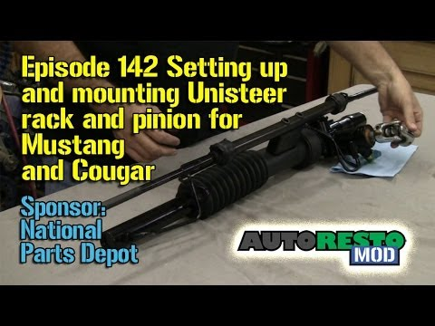 Setting up and mounting Unisteer rack and pinion Mustang and Cougar Episode 142 Autorestomod