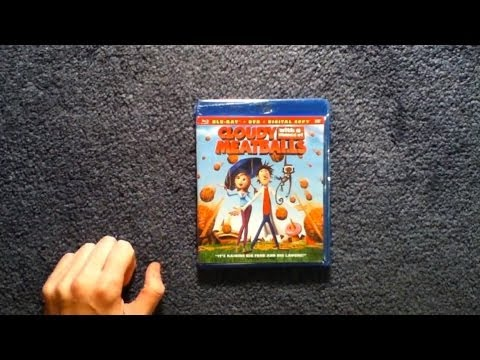Unboxing Cloudy with a Chance of Meatballs Blu-Ray/DVD/Digital Copy