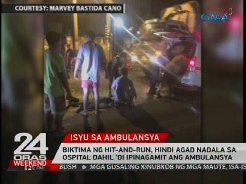 Biktima ng hit-and-run, hindi agad nadala sa ospital dahil 'di ipinagamit ang ambulansya