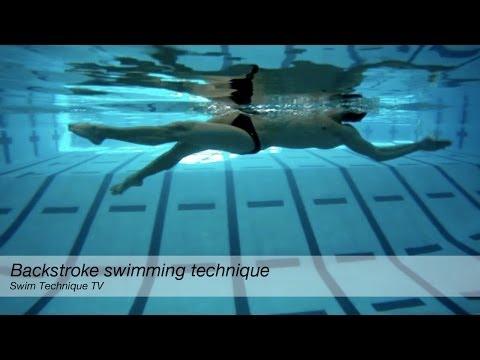 Backstroke Underwater Swimming Technique