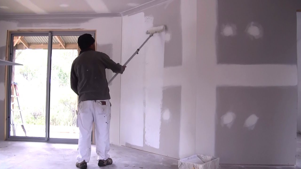 How To Prime A Wall How To Apply Primer Sealer To New Drywall Or Plaster Board Walls Youtube