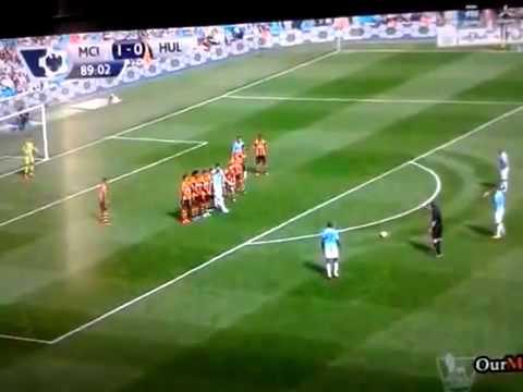 Manchester City 2 - 0 Hull City 31/8/2013 ALL GOALS - todos los goles