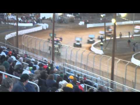 Port Royal Speedway 410 and 305 Sprint Car Highlights 4-05-14