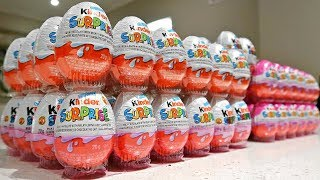 100 Kinder SURPRISE Eggs TOY UNBOXING CHALLENGE! *Disney Cars Toys Spiderman Paw Patrol Slime*