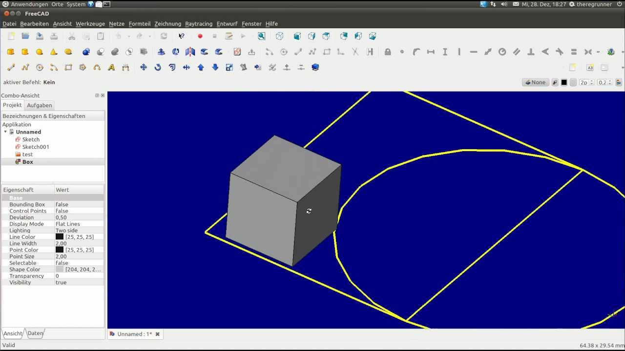 Linux Free Cad Version 012 2d 3d Dxf Youtube
