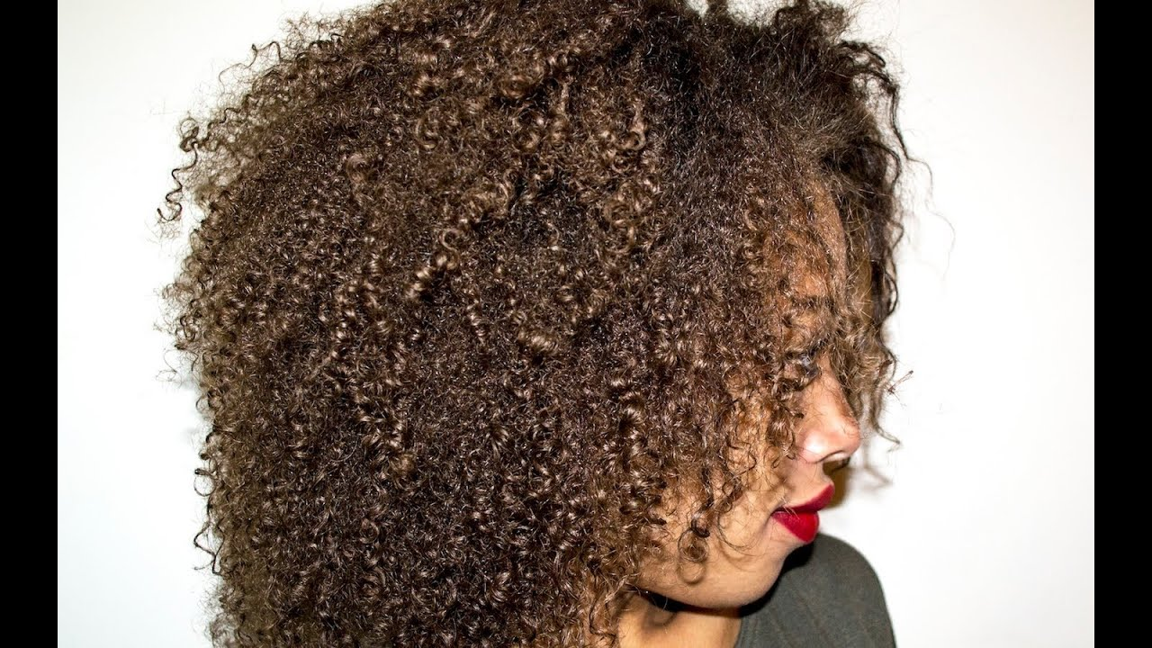 Natural 4A 4B Hair Wet