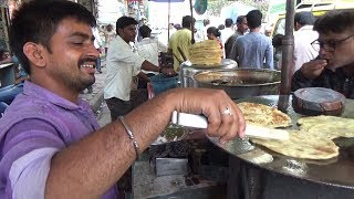 Mumbai Chole Bhature & Paratha Mutton Mixture | Delicious Indian Street Food