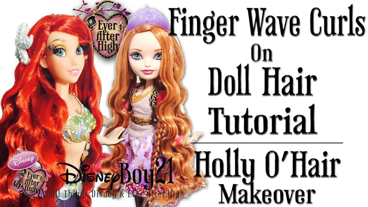 How To Curl Doll Hair Tutorial Finger Wave Curls
