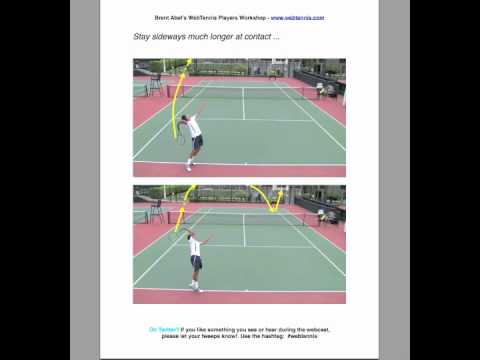 Tennis Topspin Kick Serve Webcast