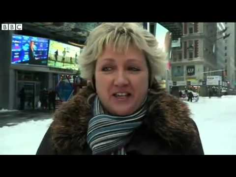 BBC News   US and Canada snowstorm causes travel chaos