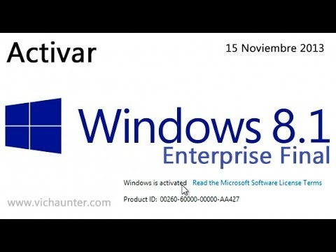 Activar windows 8.1 enterprise [FUNCIONA][15Nov2013] - YouTube