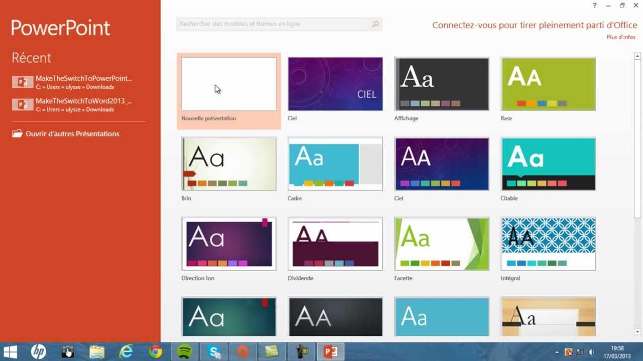 faire un beau diaporama avec powerpoint 2013