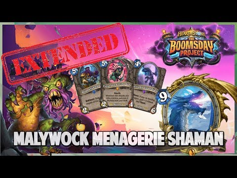 Malywock Menagerie Shaman | Extended Gameplay | Hearthstone Boomsday Project