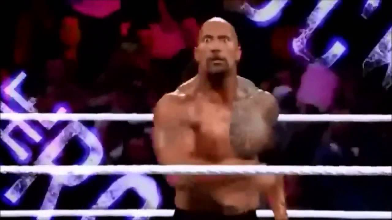 the rock titantron with his theme song