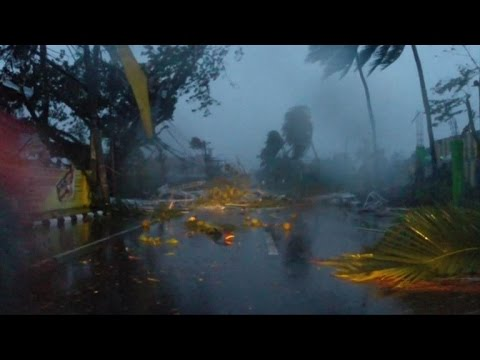 At least 4 dead as typhoon smashes Philippines Duration: 00:46