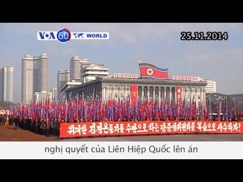 Hàng ngàn người tụ tập ở Bình Nhưỡng biểu tình phản đối nghị quyết của LHQ (VOA60)