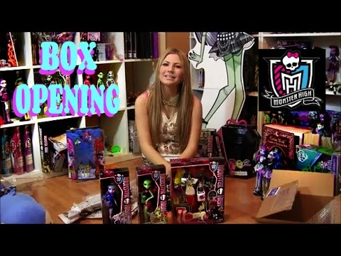 MONSTER HIGH UNBOXING MINI HAUL I LOVE FASHION  WYDOWNA SPIDER & NEW COFFIN BEAN DOLLS VIDEO!!