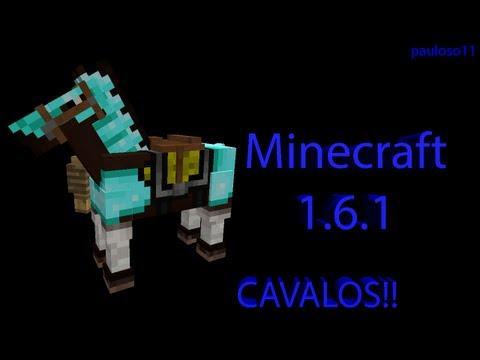 Minecraft 1.6.1 como domesticar cavalos (Atualização 01/07/2013)