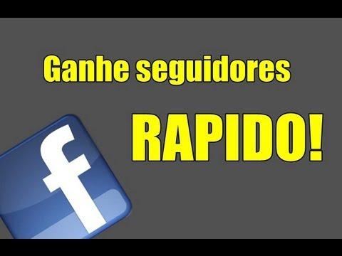 Como ganhar seguidores no facebook rapido 2013