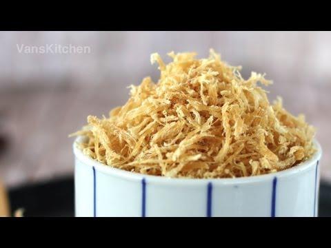 Chà bông gà, Ruốc gà (Chicken floss, Dried shredded chicken)