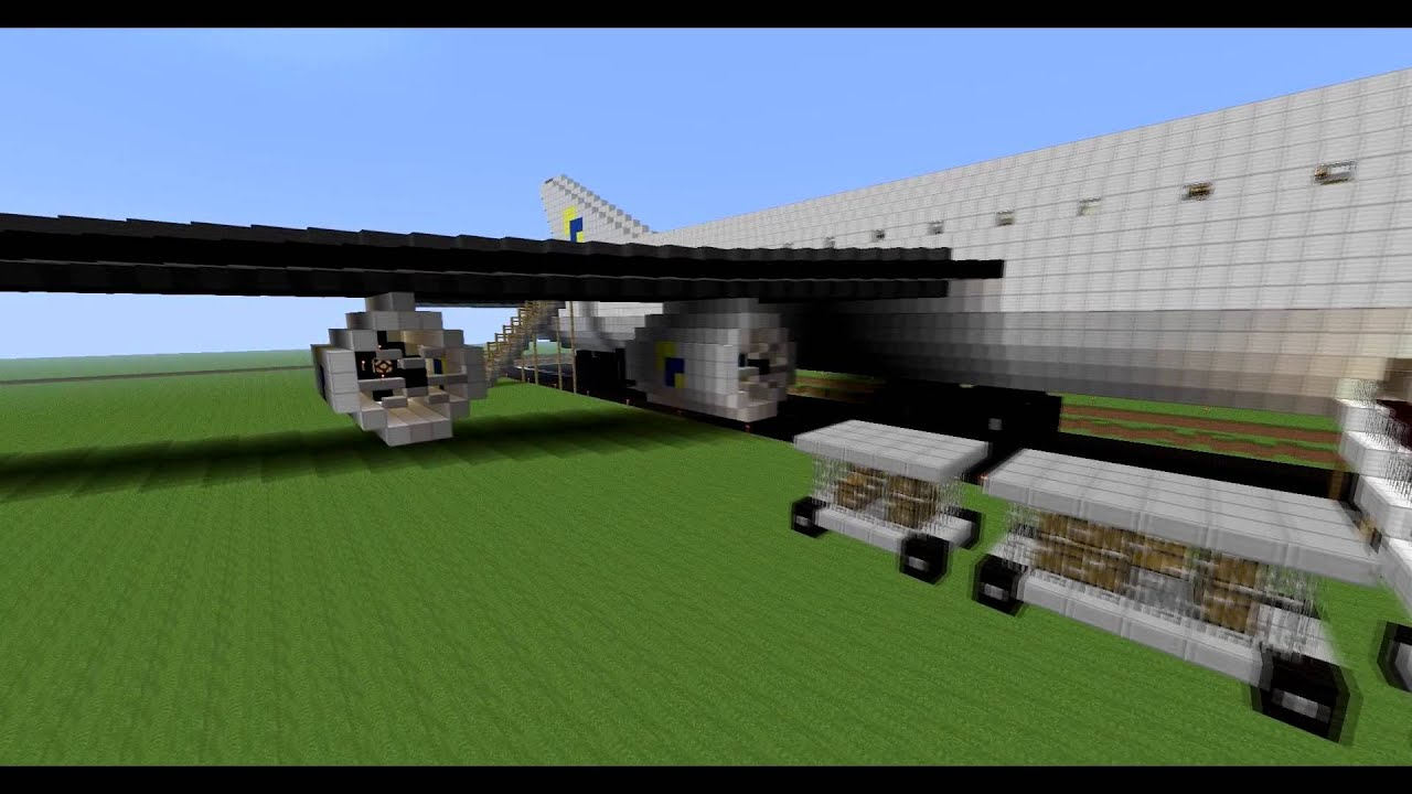 how to make a jet plane in minecraft