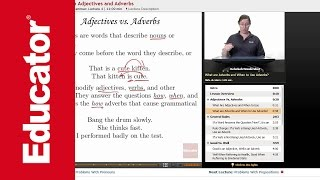 """""""Problems with Adjectives and Adverbs""""   Advanced English Grammar with Educator.com"""