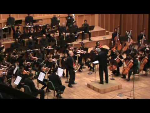Concierto para saxofón tenor y Orquesta Sinfónica de Hans Helfritz. Tercer movimiento.