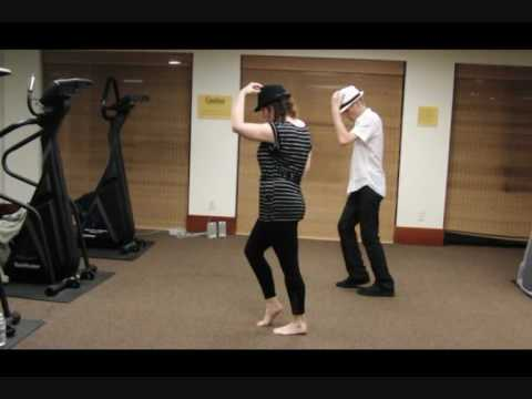Michael Jackson Smooth Criminal Dance Tutorial Flashmob Version Part 2 of 4 (back view)
