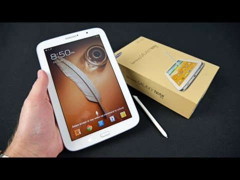 Samsung Galaxy Note 8.0: Unboxing & Review, Detailed unboxing, setup, demo, and review of the Galaxy Note 8.0 Tablet. $399 Buy Here: http://goo.gl/zi1fC CPU: 1.6Ghz Quad-Core Cortex A9 Exynos 4412 GPU:...